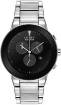 Citizen Men's Chronograph Axiom Eco-Drive Stainless Steel Bracelet Watch 43mm AT2240-51E