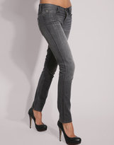 Gray Destroy Skinny Jean
