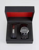 Armani Exchange Hampton Stainless Steel Watch & Bracelet Gift Set