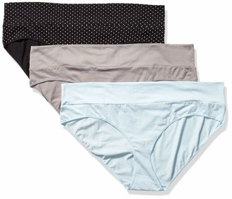 Motherhood Maternity Women's Maternity Plus-Size 3 Pack Fold Over Brief Panties