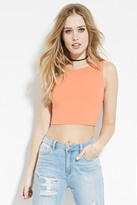 Forever 21 FOREVER 21+ Round-Neck Crop Top