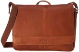 Kenneth Cole Reaction Risky Business Colombian Leather Flapover Messenger Bag Messenger Bags