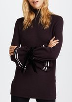 Mother of Pearl Axel Turtleneck Burgundy With Stripes