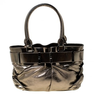Burberry Metallic Leather Handbags