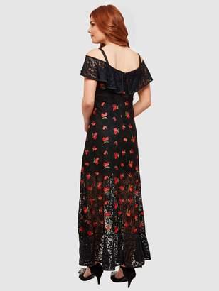 Joe Browns Fruity Flamenco Lace Dress - Black