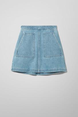 Weekday Maze Sky Blue Denim Skirt - Blue