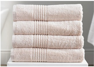Eden Egyptian Pair of Cotton Towels - Pink