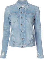 L'Agence distressed denim jacket - women - Cotton/Polyester/Spandex/Elastane - S