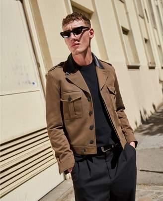 The Kooples Military-style khaki cotton jacket