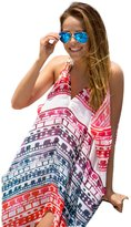 WAYLONGPLUS Womens Cover Up Floral Print Loose Beachwear Chiffon