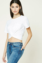 Forever 21 FOREVER 21+ Twist-Front Cropped Tee