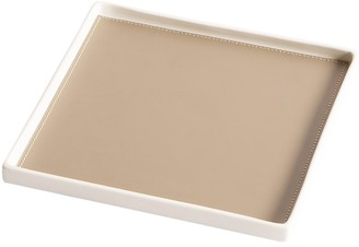 Dragonfly Singular Square Tray, Taupe