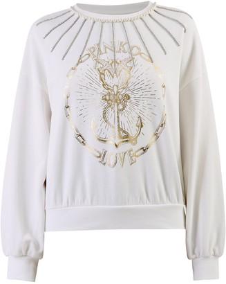 Pinko Love Anchor Print Sweatshirt