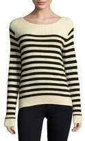 SET Striped Wool-Blend Pullover