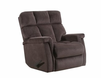 Alsache Power Recliner Lane Furniture Upholstery Color: Chocolate, Reclining Type: Manual, Motion Type: Rocker with Heat & Massage