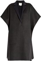 Tibi Bi-colour wool-blend coat