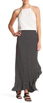 Max Studio Ruffle Hem Wrap Skirt