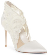 Imagine Vince Camuto Obin Lace Detailed Pointy Toe Pump