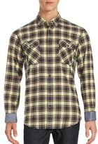James Campbell Long Sleeve Cotton Plaid Shirt
