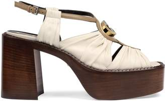 Gucci Leather mid-heel platform sandal