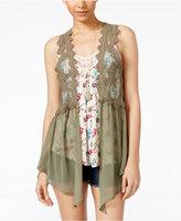Belle Du Jour Juniors' Vest, Tank Top and Necklace Set