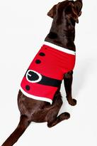 boohoo Ava Father Christmas Suit Dog Jumper red