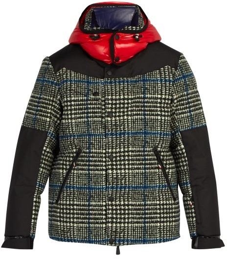 Moncler 3 Palu Technical Down Filled Ski Jacket - Mens - Grey Multi