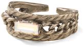 Sorrelli Clear & Silvertone Braided Baguette Ring With Swarovski® Crystals