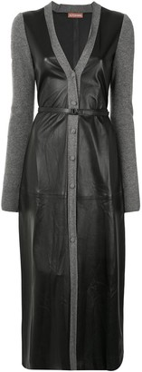 Altuzarra V-neck leather dress