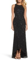 Adrianna Papell Women's Sequin High/low Gown