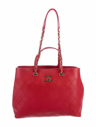 Chanel 2020 Quilted Shopping Tote gold