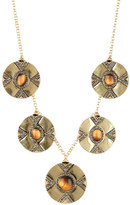House Of Harlow Dorelia Coin Tiger Eye Statement Necklace