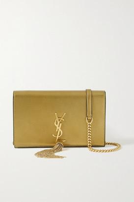 Saint Laurent Kate Metallic Textured-leather Shoulder Bag - Gold