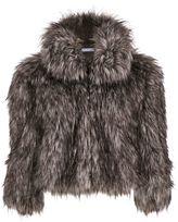 Gina Bacconi Sparkle Metallic Faux Fur Jacket
