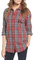 Obey 'Carmen' Plaid Button Front Shirt