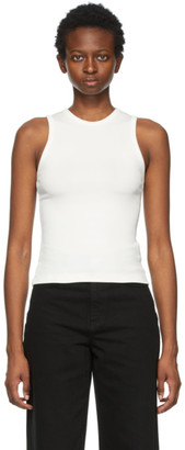 Gold Sign White The Rib Tank Top