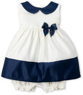 princess faith (Newborn/Infant Girls) Two-Piece Peter Pan Collar Dress & Bloomers Set