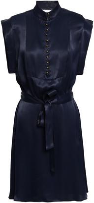 Zimmermann Belted Satin-crepe Mini Dress
