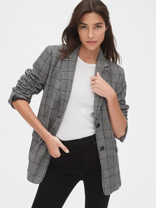 Gap Modern Plaid Blazer
