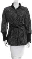 Nanette Lepore Tie-Accented Patterned Coat