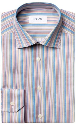 Eton Slim-Fit Multicolor Striped Dress Shirt