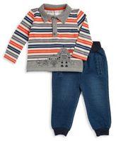 Petit Lem Little Boy's Striped Polo & Pants Set