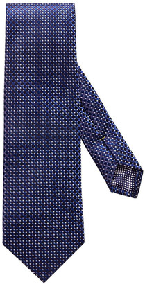 Eton Micro Circle Silk Tie, Navy