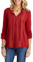 Democracy Embroidered Peasant Blouse