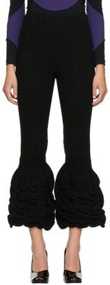 Paula Canovas Del Vas Black Rib Knit Pants