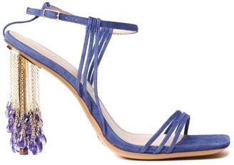 Jacquemus Suede Leather Blue Lavandes Sandals