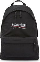 Balenciaga Explorer campaign logo nylon backpack