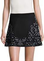 Roberto Cavalli Women's Scroll Print Mini Skirt