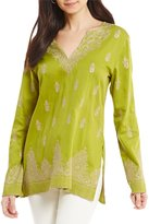 Sigrid Olsen Signature Medallion Embroidered Tunic