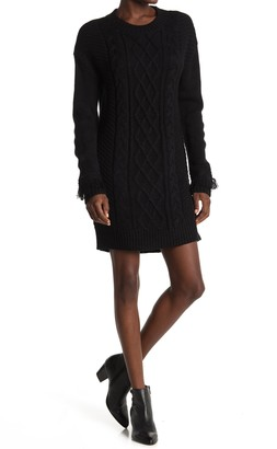 BB Dakota Cable Knit Sweater Dress